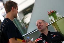 Adrian Newey, Red Bull Racing, Directeur Technique avec Sebastian Vettel, Red Bull Racing