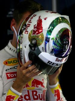 Casque de Sebastian Vettel, Red Bull Racing