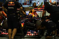 Mark Webber, Red Bull Racing ensaya su parada en pits