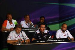 FIA Press Conference Norbert Haug Mercedes Sporting Director, Sam Michael Williams Technical Directo