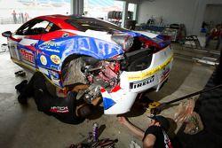 Zware schade #66 Ferrari of Ft. Lauderdale Ferrari 458 Challenge: Maurizio Scala