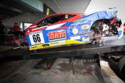 #66 Ferrari of Ft. Lauderdale Ferrari 458 Challenge: Maurizio Scalana zware crash