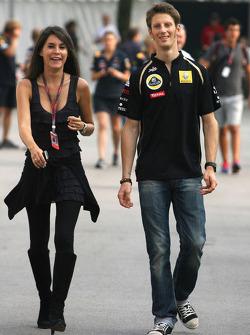 Romain Grosjean, Lotus Renault GP and his girlfreind Marion Joles