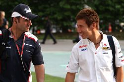 Rubens Barrichello, Williams F1 Team en Kamui Kobayashi, Sauber F1 Team
