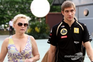 Vitaly Petrov and his manager