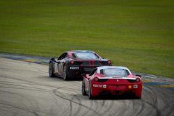 #28 Ferrari of Beverly Hills Ferrari F430 Challenge: Jon Becker, #007 Ferrari of Ontario Ferrari 458