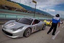 Race winner #777 Ferrari of Québec Ferrari 458 Challenge: Emmanuel Anassis