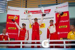 430 podium: class winner #4 Ferrari of Silicon Valley Ferrari F430 Challenge: Chris Ruud, second pla