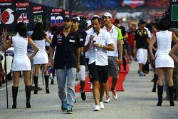 Jaime Alguersuari, Scuderia Toro Rosso y Vitantonio Liuzzi, HRT F1 Team