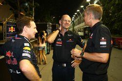 Christian Horner, Red Bull Racing, Sporting Director con Adrian Newey, Red Bull Racing, Director de