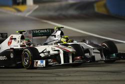 Sergio Perez, Sauber F1 Team and Nico Rosberg, Mercedes GP F1 Team