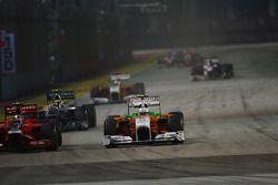 Jerome d'Ambrosio, Marussia Virgin Racing and Paul di Resta, Force India F1 Team