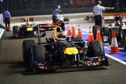 Ganador de la carrera Sebastian Vettel, Red Bull Racing