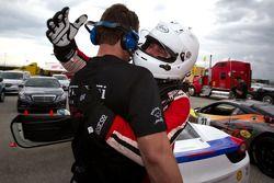 Race winner #22 Ferrari of Ft. Lauderdale Ferrari 458 Challenge: Enzo Potolicchio celebrate