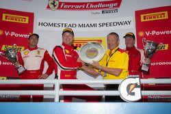 430 podium: class winner #4 Ferrari of Silicon Valley Ferrari F430 Challenge: Chris Ruud, second place #91 Ferrari of Ft. Lauderdale Ferrari F430 Challenge: Guy Leclerc, third place #31 Ferrari of Ontario Ferrari F430 Challenge: Damon Ockey