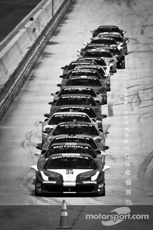The field heads to starting grid