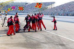 Stewart-Haas Racing Chevrolet celebrates the win