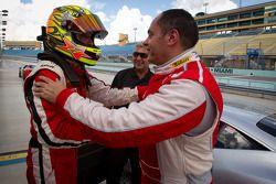 Pole #777 Ferrari of Québec Ferrari 458 Challenge: Emmanuel Anassis met #27 Ferrari of Houston Ferra