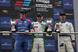 Podium from left: William Buller, Valtteri Bottas and Menasheh Idafar