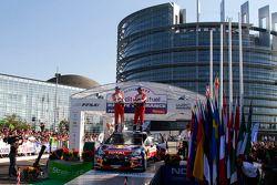 Podium: Sébastien Ogier and Julien Ingrassia, Citroën DS3 WRC, Citroën Total World Rally Team