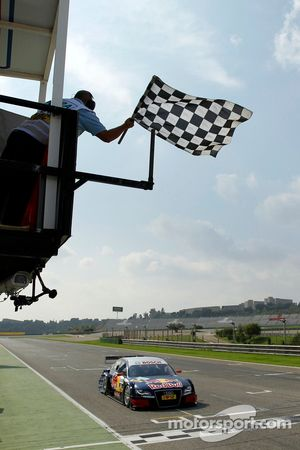 Race winnaar Mattias Ekström, Audi Sport Team Abt Sportsline