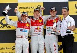 Podium: Filipe Albuquerque (Audi Sport Team Rosberg / TV Movie Audi A4 DTM (2008)), #8 Mattias Ekstr