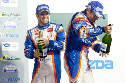 P1 podium: Nicolas Lapierre and Nicolas Minassian celebrate