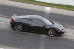 Damon Ockey drives his Ferrari 458 Italia