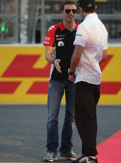 Jerome d'Ambrosio, Virgin Racing and Vitantonio Liuzzi, HRT F1 Team