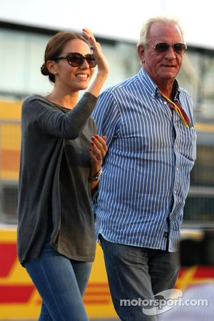 John Button and Jessica Michibata girlfriend of Jenson Button