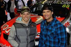 MotoGP champion Casey Stoner and motocross champion Chad Reed visit Bathurst