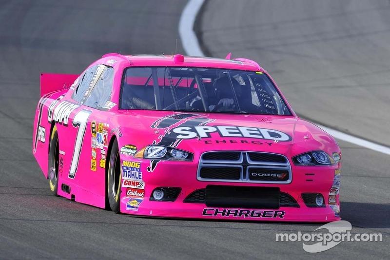 Octubre es a menudo el mes del color rosa: Robby Gordon en Kansas City 2011...
