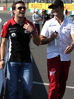 Jerome d'Ambrosio, Virgin Racing ve Vitantonio Liuzzi, HRT F1 Team