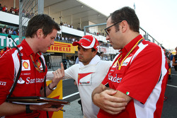 Rob Smedly, Scuderia Ferrari, Chief Engineer of Felipe Massa and Felipe Massa, Scuderia Ferrari and