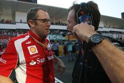 Stefano Domenicali, Scuderia Ferrari Sporting Director and Christian Horner, Red Bull Racing, Sporti