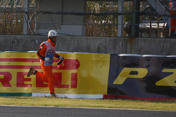 The part of Felipe Massa, Scuderia Ferrari which caused the safety car