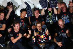 Sebastian Vettel, Red Bull Racing, Christian Horner, Red Bull Racing, Sporting Director and Adrian N