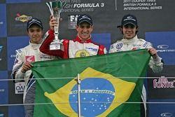 Podium from left: G.Silva, Lucas Foresti and Pietro Fantin,