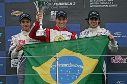 Podium from left: G.Silva, Lucas Foresti and Pietro Fantin,