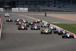 Kevin Magnussen leads from the start