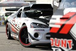 The VLEDS / Federal Tire, Dodge Viper SRT-10 sits in the pits