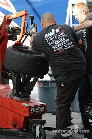 A Samuel Hubinette Racing / Dodge team member
