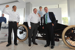 Jamie Allison, Director of Ford Racing; Edsel Ford II, Member of the Board of Directors of Ford Motor Company; 6 year old Dan Money, son of Ford employee, Shannon Money and William Clay Ford Jr., Executive Chairman of Ford Motor Company capture a moment w