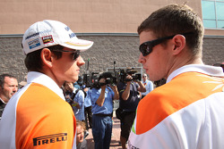 Adrian Sutil, Force India F1 Team and Paul di Resta, Force India F1 Team