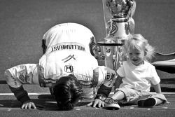 2011 Indy 500 race winner Dan Wheldon, Bryan Herta Autosport with Curb / Agajanian with son Sebastia