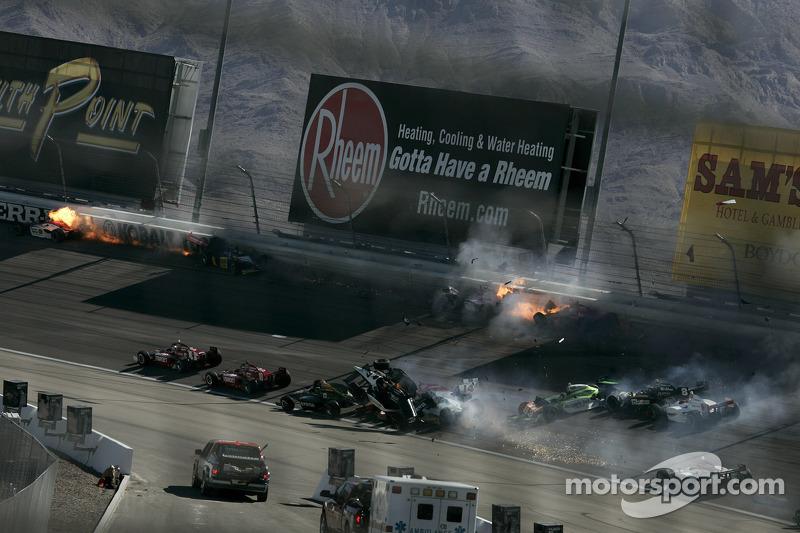The horrific 15-car crash that took the life of Dan Wheldon at Las Vegas