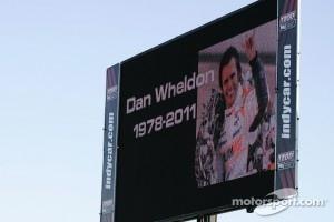 The track announces Dan Wheldon's passing