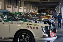 Selection of famous 911 race cars on display