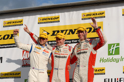 Round 29 podium: 1st Gordon Shedden, 2nd Matt Neal, 3rd Tom Onslow-Cole
