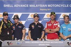 Colin Edwards, Andrea Dovizioso, Casey Stoner, Valentino Rossi, Alvaro Bautista